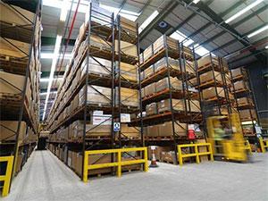 Adjustable Pallet Racking in Warehouse