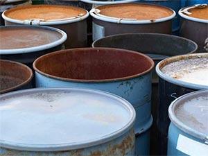 Floor Spillages - Chemical Barrels